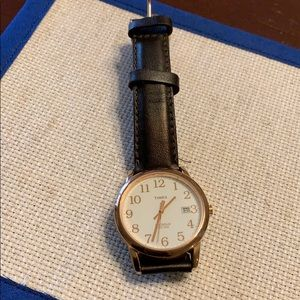 Classic rose gold timex watch